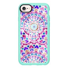 FESTIVAL MANDALAS - iPhone 7 Case And Cover ($40) ❤ liked on Polyvore featuring accessories, tech accessories, iphone case, clear iphone case, apple iphone case, iphone cover case and iphone cases