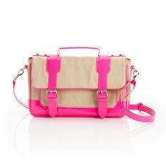 Schoolboy Satchel - ShoeMint  Also in black & yellow...cute pink!