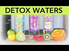 3 Detox Water Recipes for fat flushing, anti-aging, and beauty - YouTube
