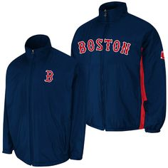 Boston Red Sox Authentic Triple Climate 3-In-1 On-Field Road Jacket by Majestic Athletic