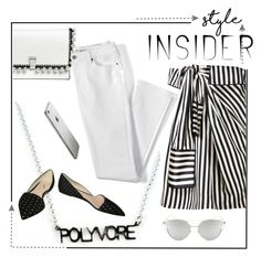 """""""Monochrome"""" by alice-through-the-looking-glass ❤ liked on Polyvore featuring J.Crew, Monse, Proenza Schouler, Lands' End, Chicnova Fashion, contestentry and styleinsider"""