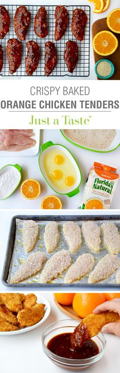 Baked Orange Chicken Tenders | recipe via justataste.com
