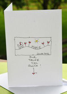 KerstinCards - persönlicher geht´s nicht.    Wünschen Sie dem Täufling viel Glück mit einer persönlichen, handgemalten Karte.    KerstinCards sind sch
