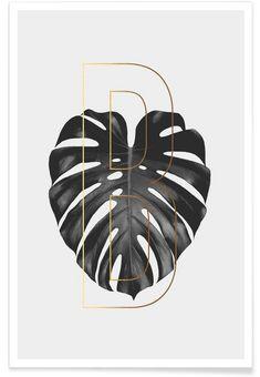 Plants B als Premium Poster von typealive   JUNIQE
