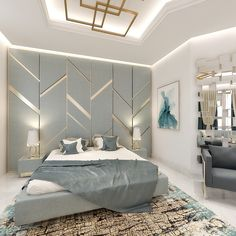 Modern Bedroom, Special Project #modern #home #bedroom #bedroomdecor #interiorstyling #blue