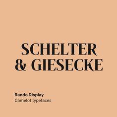 Rando by Maurice Göldner . . . . . . . . . . #rando #camelottypefaces #mauricegoldner  #type #typography #font #design #webfont…