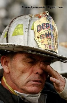 The tears of a firefighter.