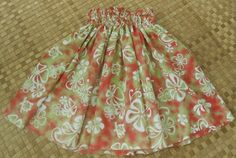 Rose and apple green girl's hula pa'u skirt with by SewMeHawaii, $25.00