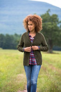 Meet the ultimate country cardigan, understated and timeless. Softly textured all over in honeycomb stitch with reverse stockinette sleeves, Yoko Hatta's Field sports a flattering V-neck with a perfectly proportioned shawl collar. The work begins with the deep ribbed hem, and the body is knit flat in one piece without shaping to the armholes. The …
