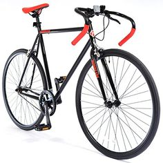 MUDDYFOX 700c Road BIKE - Classic Roadster Bicycle in BLACK and RED (Mens)
