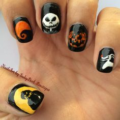 Instagram photo by @NailArt_by_LadyBirdBoutique #nailart #nails #naildesigns #halloweennails