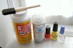 Make your own nail polish & glitter bobby pins