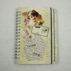 Notebook - Handmade Front Cover Spiral Bound 11 x 15cms £3.40