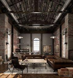 Amazing 27 Industrial Living Room Designs