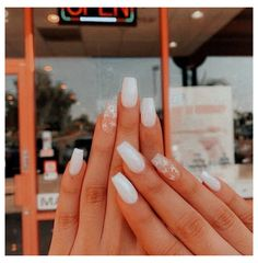 white butterfly nails #short #acrylic #nails #coffin #simple #white #shortacrylicnailscoffinsimplewhite Acrylic Nails Coffin Short, Simple Acrylic Nails, Summer Acrylic Nails, Best Acrylic Nails, Simple Nails, Coffin Nails, Acrylic Nails Pastel, Summer Nails, Winter Nails