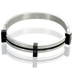 316L Stainless Steel Bracelet with 3 CZ Stones Accent (Jewelry)  http://www.picter.org/?p=B007O0E046