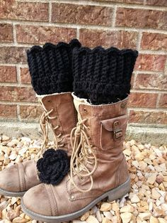 plus size wool boot cuffs xl hand crochet 100 by chainstitchers