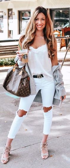 8424721ba37 39 How To Wear White Jeans for Women Casual Outfit