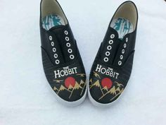 The Hobbit Handpainted Sneakers | 17 Book-Inspired Accessories You'll Want Immediately
