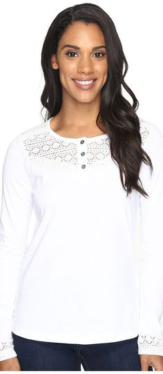 Aventura Clothing Tally Long Sleeve (White) Women's Clothing - Aventura Clothing, Tally Long Sleeve, M73292-100, Apparel Top General, Top, Top, Apparel, Clothes Clothing, Gift, - Fashion Ideas To Inspire