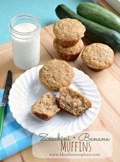 banana and zucchini muffins #recipe