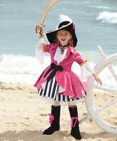 Pink Pirate Dress - Girls #zulily #zulilyfinds