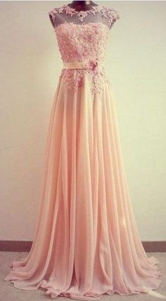 2014 Trends chiffon lace pink bridedmaid dress dress pink