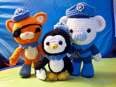 Introducing... The Octonauts! in crochet form! ($14.60 for the patterns)