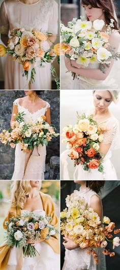 5 Beautiful Wedding Bouquet Trends For Spring Summer 2018! Apricot Orange & Butter Yellow