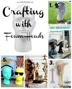 Crafting with foam heads. #debbiedoos #MakeitFunCrafts