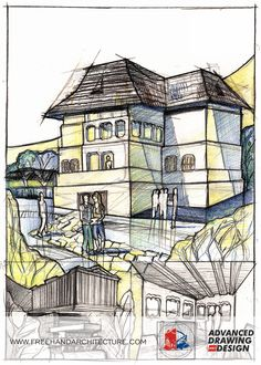 Freehand Architecture - Architectural Drawing and Design History, Architecture, Drawings, Arquitetura, Historia, Sketches, Drawing, Architecture Design, Portrait