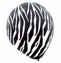 Zebra Print Balloons are the perfect Bachelorette Party Decorations! Available at The House of Bachelorette for just $2.99!