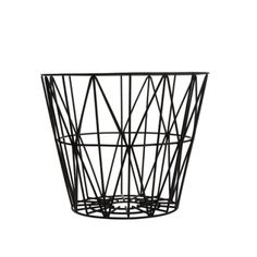 corbeille wire small  ferm living noir 58€ uaredesign