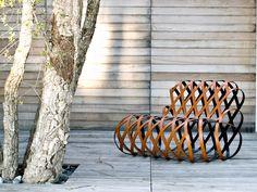 Fauteuil de repos en acier ARIA by La Cividina | design Antonio Rodriguez