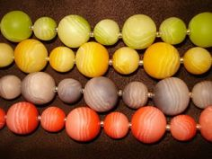 How to make layered round beads ~ Polymer Clay Tutorials