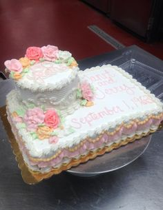 50th anniversary cake with vintage colors
