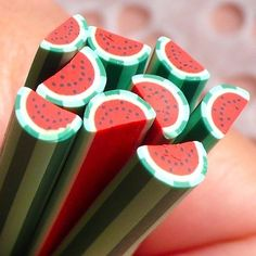 Polymer Clay Cane  Fruit  Watermelon  for by MiniatureSweet, $1.20