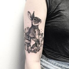 Bunny in Foliage by Michael George Pecherle But with whiter cheeks