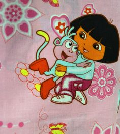 Fabric Dora The Explorer By the Half Yard 44 inches Wide by GoofingOffSewing on Etsy