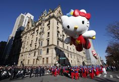The Super Cute Hello Kitty balloon floats down Central Park West during the 85th Macy's Thanksgiving day parade in New York November 24, 2011.