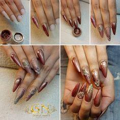 Sajnos hamarosan vége a nyárnak.  🍁Őszi SBS nektek Gold Nails alapanyagokkal: Color gels: 10 - 21 Shining color: 04  Akril festékek