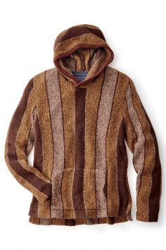 Beach Bum Striped Hoodie Sweater from Ohio Knitting Mills. Made in America's heartland in Cleveland, Ohio.