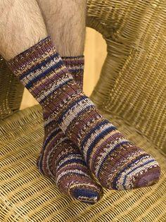 Needlework Projects Ravelry: Socks for Men pattern by Grace Alexander - Knitted Socks Free Pattern, Knitted Slippers, Crochet Slippers, Knit Or Crochet, Knitting Patterns Free, Knit Patterns, Knitting Socks, Knit Socks, Men's Socks