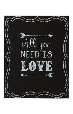 Primark - Black All You Need Is Love Plaque