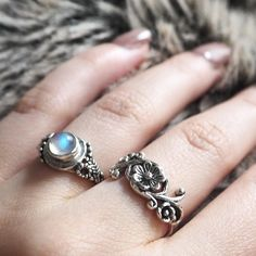 Cosy office blanket snuggles with two of our favourite new sterling silver rings  Shop now at www.druzydreams.com