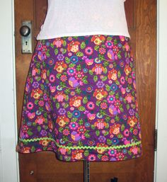 This skirt but not this fabric...maybe a border print or a lined eyelet or lace