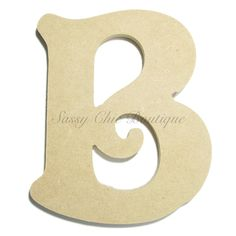 """Unfinished Wooden Letter - Uppercase """"B"""" - Victorian Font 