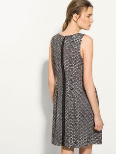c14b48c6c2 Massimo Dutti black white sleeveless dress