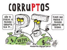 Chargista Cearense Newton Silva: NÃO SE ESCREVE CORRUPTO SEM PT