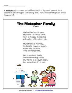 Create a Figurative Language Poem: Similes, Metaphors, and ...